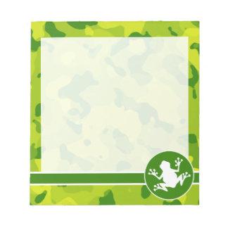 Apple Green Camo; Frog Memo Note Pads