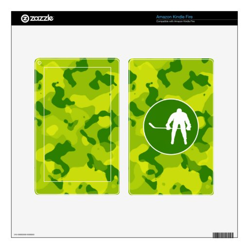 Apple Green Camo; Hockey Decals For Kindle Fire