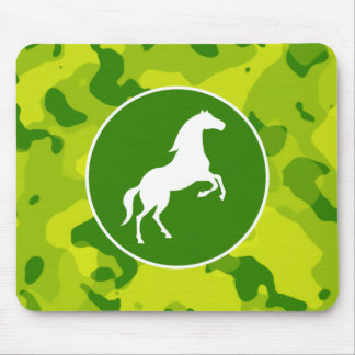 Apple Green Camo; Horse, Equestrian Mouse Pad
