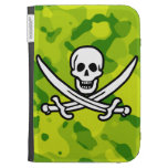 Apple Green Camo; Jolly Roger Case For Kindle