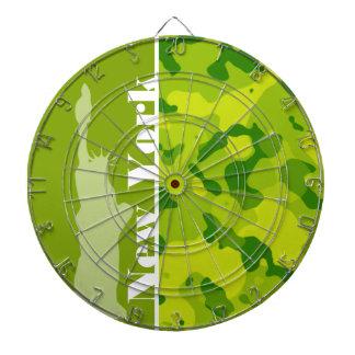 Apple Green Camo; New York Dartboard