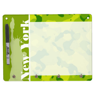 Apple Green Camo; New York Dry Erase Board With Keychain Holder