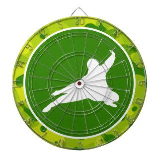 Apple Green Camo; Ninja Dartboard With Darts