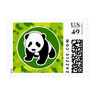 Apple Green Camo; Panda Postage Stamp