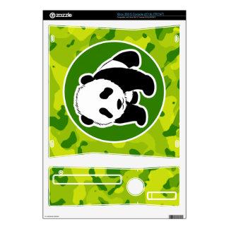 Apple Green Camo; Panda Xbox 360 S Console Skin