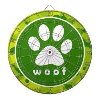 Apple Green Camo; Paw Print Dart Boards