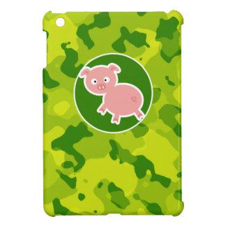Apple Green Camo; Pig iPad Mini Cases