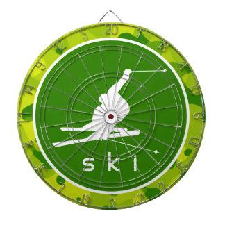 Apple Green Camo; Snow Ski Dartboards