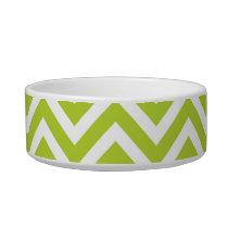 Apple Green Chevron Bowl