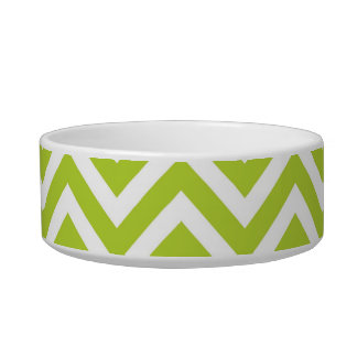 Apple Green Chevron Bowl