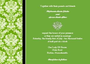 Apple Green Wedding Invitations Zazzle