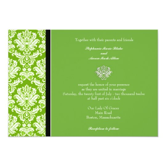Apple Green Wedding Invitations