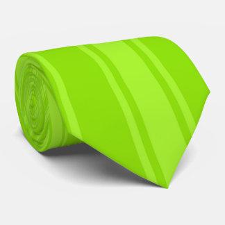 Apple green Color Stripe Funky Pattern Tie