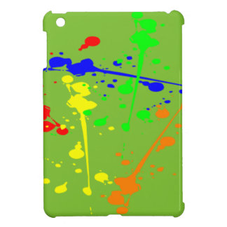 APPLE GREEN  COLORFUL PAINT SPLASH IPAD COVER