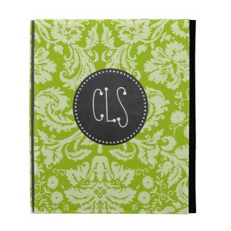 Apple Green Damask Pattern; Chalkboard iPad Cases