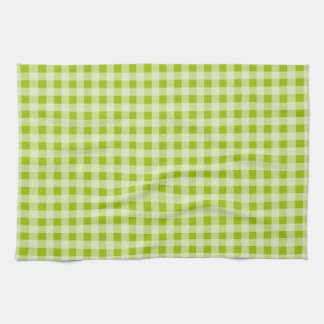 Apple Green Gingham; Checkered Towels