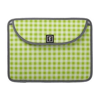 Apple Green Gingham; Checkered MacBook Pro Sleeve