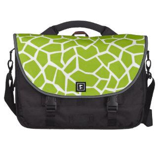 Apple Green Giraffe Animal Print Laptop Commuter Bag