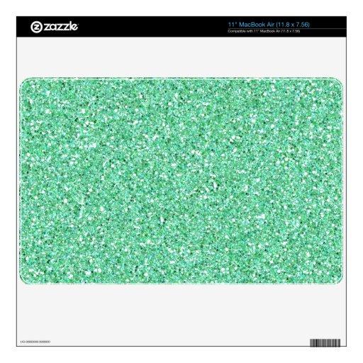 Apple Green Glitter Sparkle Mac Air Skin Skins For The MacBook Air