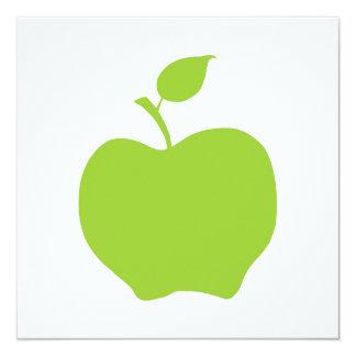 Apple Green 5.25x5.25 Square Paper Invitation Card