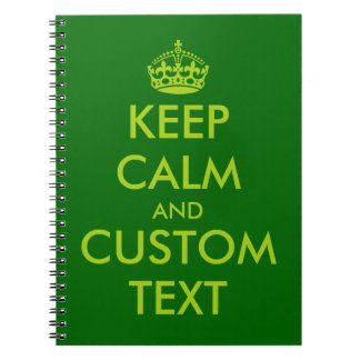Apple green Keep Calm notebook | Personalized text