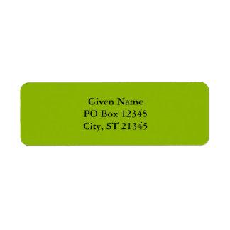 Apple Green Custom Return Address Label