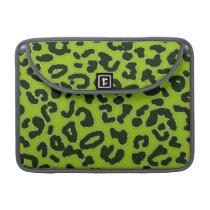 Apple Green Leopard Animal Print MacBook Pro Sleeve