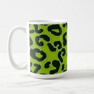 Apple Green Leopard Animal Print Mugs