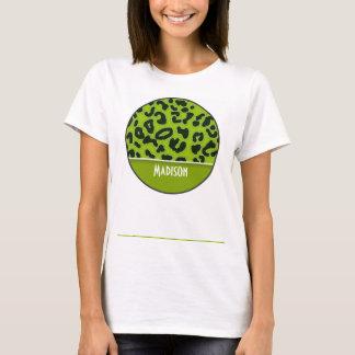 Apple Green Leopard Animal Print; Personalized T-Shirt