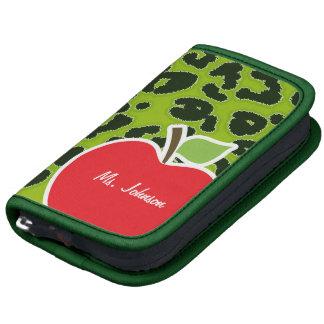 Apple Green Leopard Animal Print; Teacher Planner