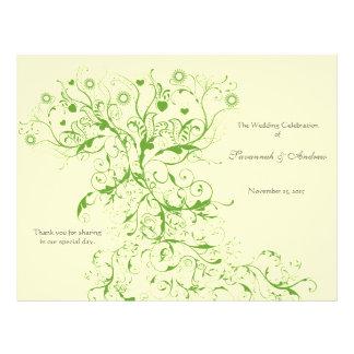 Apple Green Love Bird Swirls Program Flyer