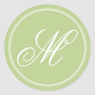 Apple Green Monogram Stickers