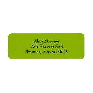 Apple Green Simple Plain Return Address Labels