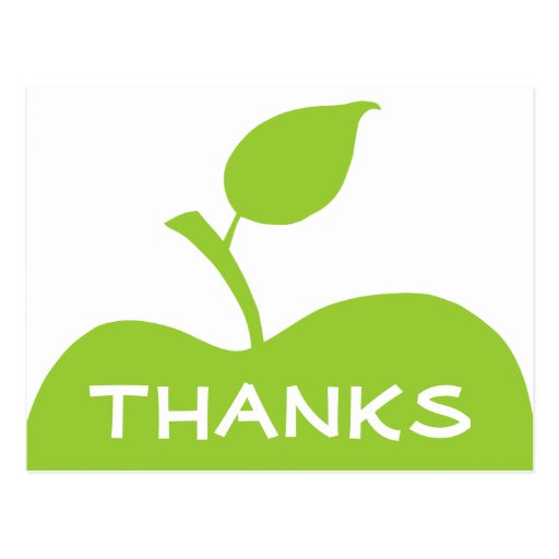 Apple Green Thank You Post Card