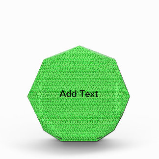 Apple Green Weave Mesh Look Acrylic Award