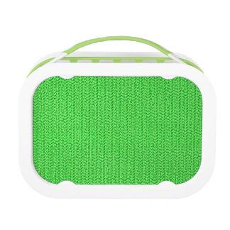 Apple Green Weave Pattern Image Lunch Boxes