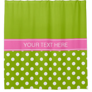 Green Curtains apple green curtains : Hot Pink Green Shower Curtains | Zazzle