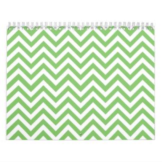 Apple green & White zigzag Calendar