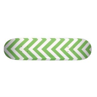 Apple green & White zigzag Skate Decks
