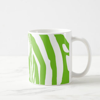 Apple green zebra print coffee mug