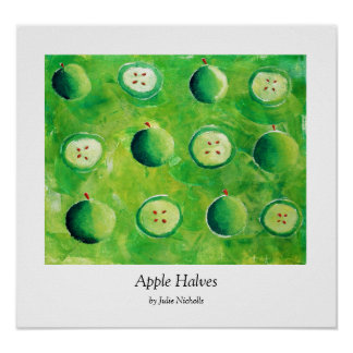 Apple Halves Poster