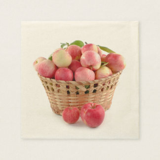 Apple Harvest, Apples in Basket, Autumn Napkin