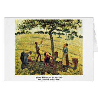 Apple Harvest At Eragny,  By Camille Pissarro Card