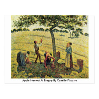 Apple Harvest At Eragny By Camille Pissarro Postcard