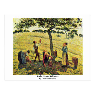 Apple Harvest At Eragny,  By Camille Pissarro Postcard