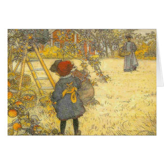 Apple Harvest by Carl Larsson of Sweden Card