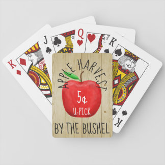 Apple Harvest Vintage Sign Playing Cards