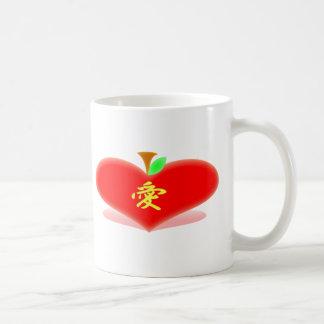 Apple Heart Coffee Mug