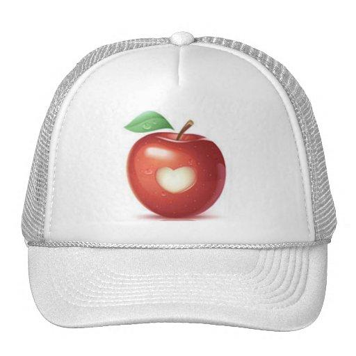 Apple heart mesh hat