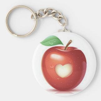 Apple heart keychains